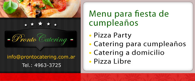 party pizza castelar, servicio para eventos capital federal, servicio de catering zona oeste